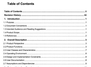 Software requirementsspecificationdocument template